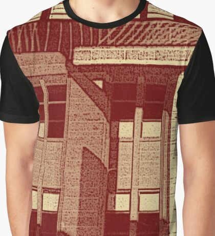 City Life Reflection Graphic T-Shirt