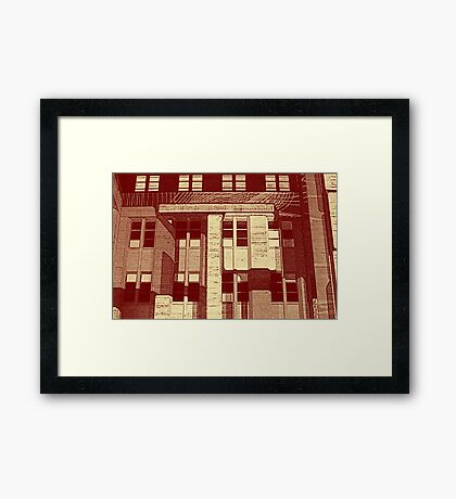 City Life Reflection Framed Print