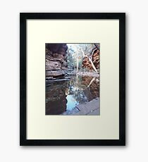 Tranquil pool in a gorge Framed Print