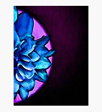 Blue Floral Eclipse of the Purple Sun Photographic Print