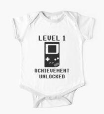 LEVEL 1 ACHIEVEMENT UNLOCKED Console retro video games 1st birthday Kids Clothes