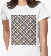 Multi - color checkered pattern. T-Shirt