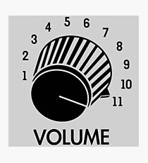 Volume Knob Up To 11 Spinal Tap Inspired Funny Guitar T-Shirt Photographic Print