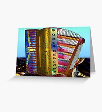 Paint My Accordion #3: Porta Bellows (UF0579) Greeting Card
