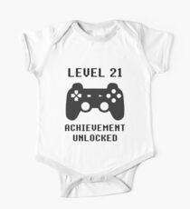 LEVEL 21 ACHIEVEMENT UNLOCKED Controller retro video games 21st birthday Kids Clothes