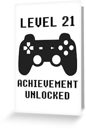 LEVEL 21 ACHIEVEMENT UNLOCKED Controller Retro Video Games 21st Birthday