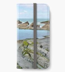 Ilfracombe beyond the rock pool iPhone Wallet