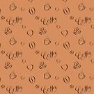 Coffee lettering pattern by Vasily