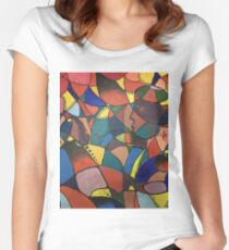 Lost in Colourful Abstract Women's Fitted Scoop T-Shirt