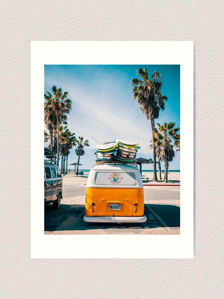 Alternate view of Combi van surf Art Print