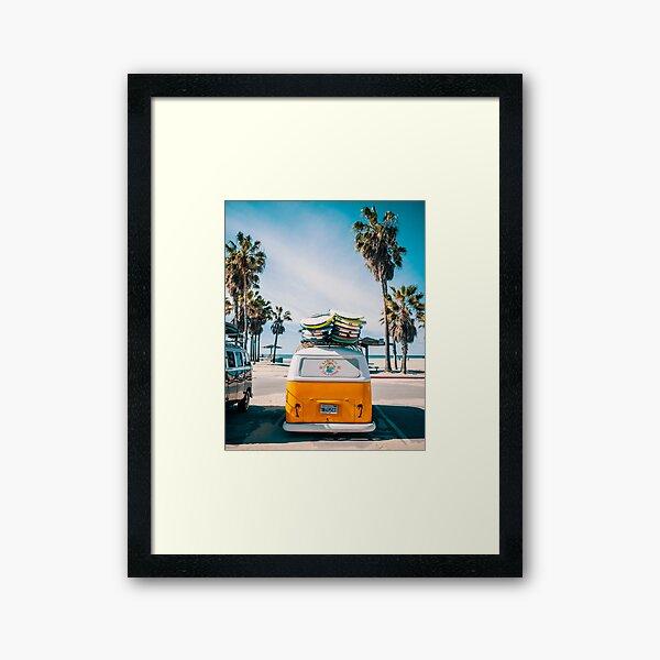 Combi van surf Framed Art Print