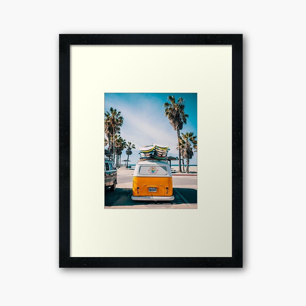Combi van surf Framed Art Print