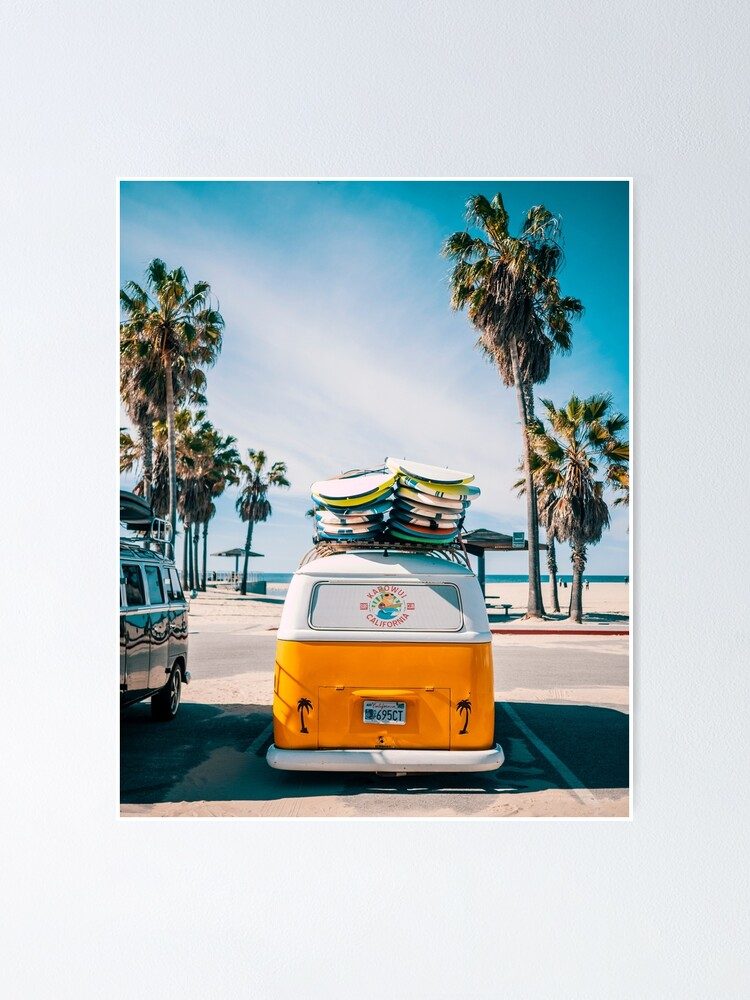Alternate view of Combi van surf Poster