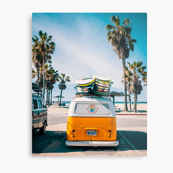 Combi van surf Impression métallique
