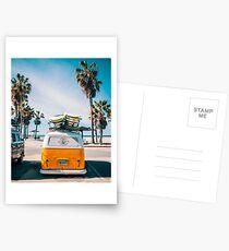 Combi van surfen Postkarten