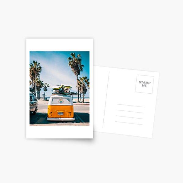 Combi van surf Postcard