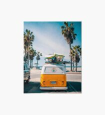 Combi van surf Art Board