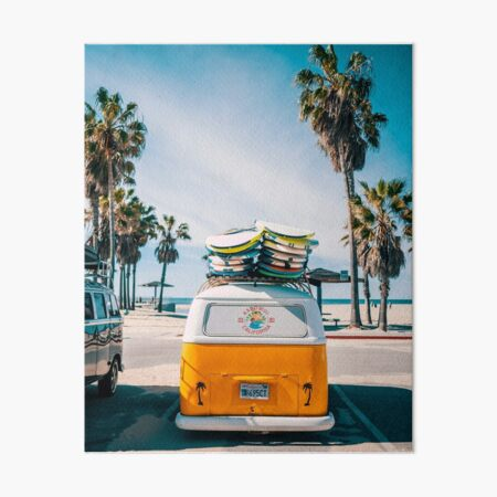 Combi van surf Art Board Print