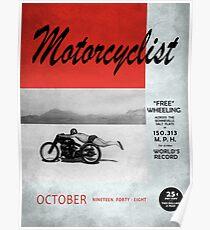 Motorcyclist Magazine - Free Wheeling Poster