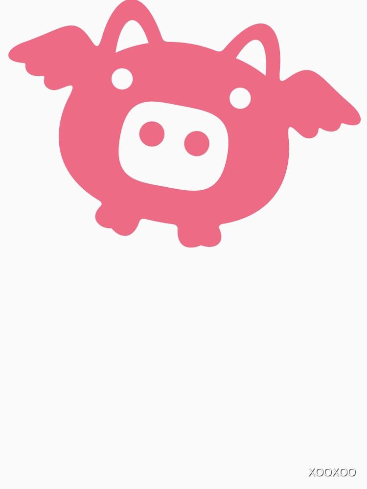 Fliegende rosa Schwein von XOOXOO
