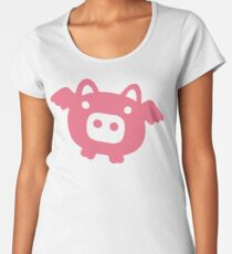 Flying Pink Pig Women's Premium T-Shirt