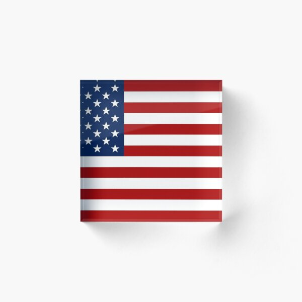 The American Flag Acrylic Block
