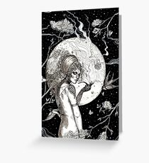 In The Moonlight Illustration III Greeting Card