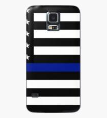 Funda/vinilo para Samsung Galaxy La delgada línea azul