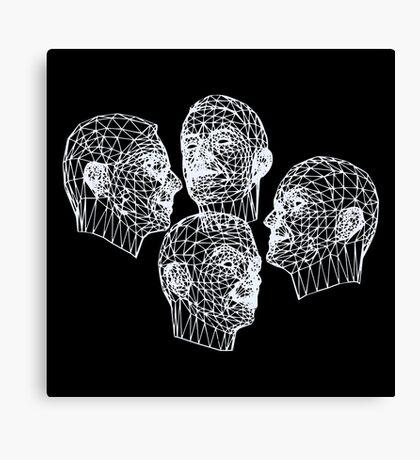 Kraftwerk Wireframe Faces Canvas Print
