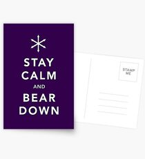 Keep Calm and Bear Down Postcards