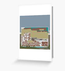 199 Dirty billboard Greeting Card