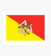 Sicilian Flag Art Print