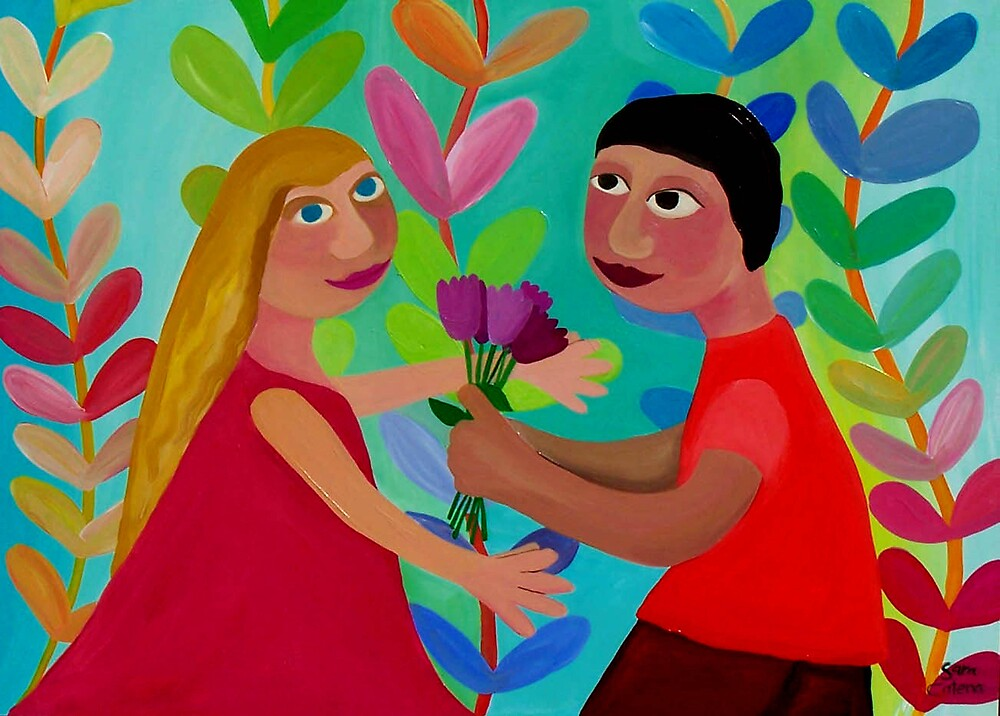SOULMATES by ART PRINTS ONLINE         by artist SARA  CATENA