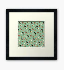 Goldfish Pattern Framed Print