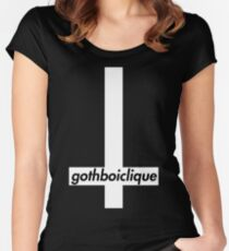 gothboiclique lil peep cross Women's Fitted Scoop T-Shirt