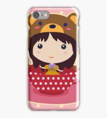 Girl in teacup iPhone Case/Skin