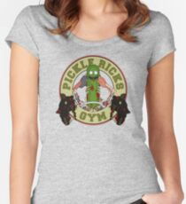 Pickle Rick's Gym Women's Fitted Scoop T-Shirt