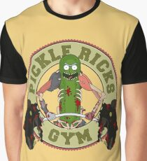 Pickle Rick's Gym Graphic T-Shirt