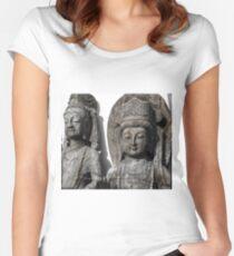 Asian Buddha Yunnan China Women's Fitted Scoop T-Shirt