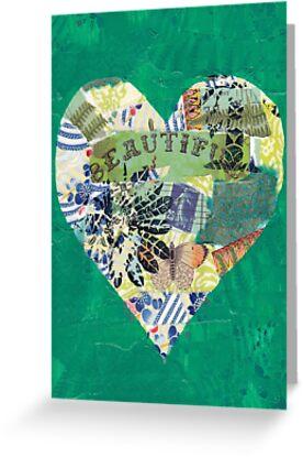 Beautiful - Love Canvas by Bec Schopen
