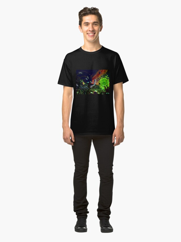 Alternate view of Run   Rick and Morty  Classic T-Shirt