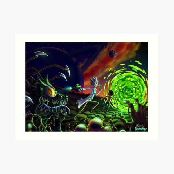 Run | Rick and Morty  Art Print