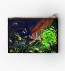 Run | Rick and Morty  Zipper Pouch