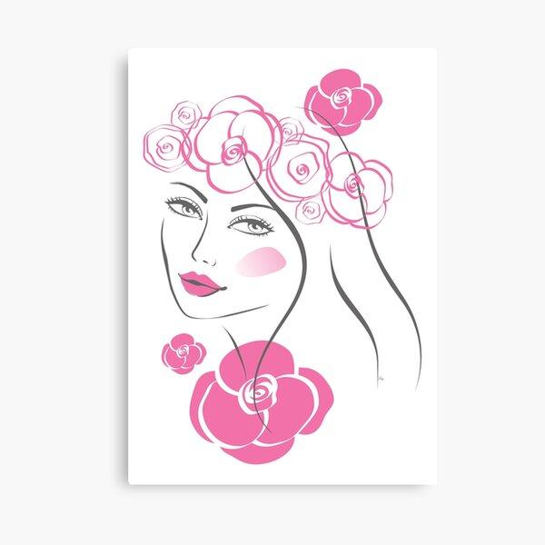 Pretty flower girl portrait Canvas Print