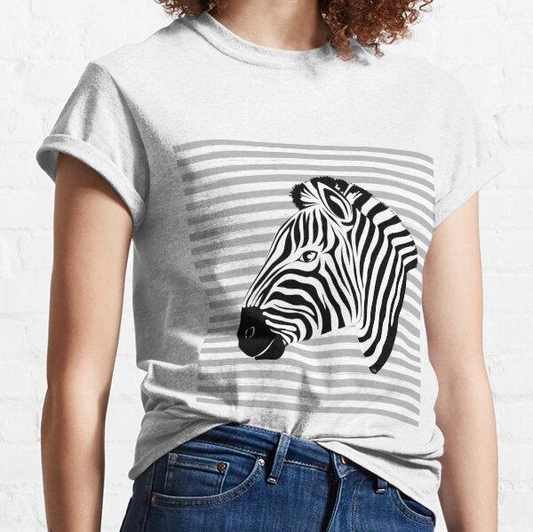 Black and white cute zebra Classic T-Shirt