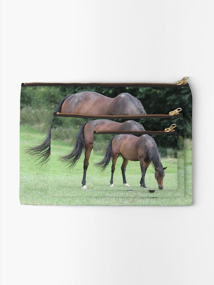 Alternative Ansicht von Braunes Pferd Täschchen
