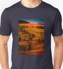 Sunset over the hills of Tuscany T-Shirt