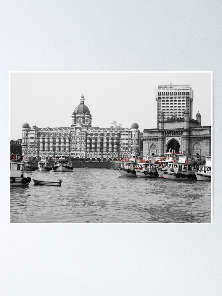 Alternate view of Gateway of India in Black N White Poster