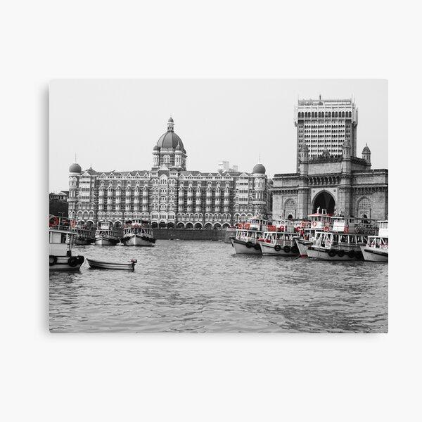 Gateway of India in Black N White Canvas Print