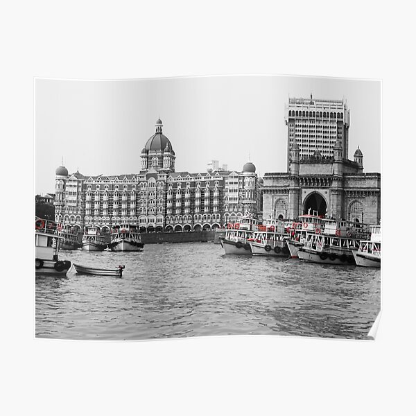 Gateway of India in Black N White Poster